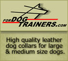 High quality leather dog collars for large and medium size dogs.