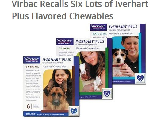 Iverhart Ivermectin Plus Heartworm Medication Recall Warning