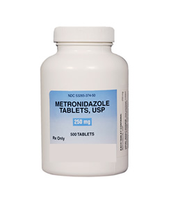 bottle of metronizadole for dogs
