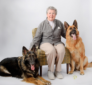 Gramma with her furry Grankids